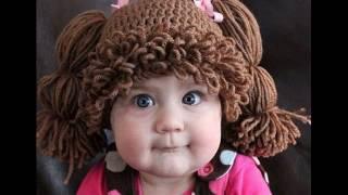 Необычные детские вязаные шапочки