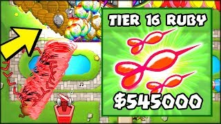 THE CRAZIEST MOD EVER - RUBY TIER 16 TOWER | Bloons TD Battles Hack/Mod (BTD Battles)