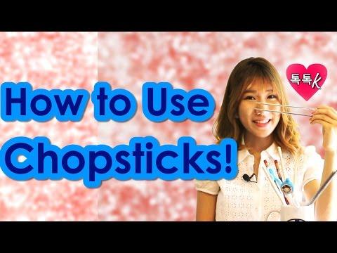 Learn Korean Culture - HOW TO USE CHOPSTICKS Tutorial! (Talk Talk Korean- Han-Na)
