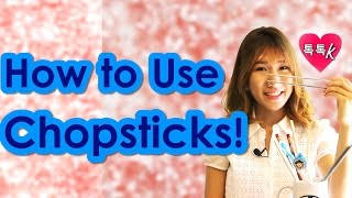 Learn Korean Culture - HOW TO USE CHOPSTICKS Tutorial! (Talk Talk Korean- Han-Na)
