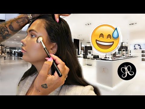 GETTING MY MAKEUP DONE AT ANASTASIA BEVERLY HILLS COUNTER | ItsSabrina thumbnail