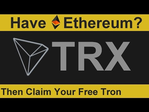 Have Ethereum? Then Claim Your Free Tron - YouTube