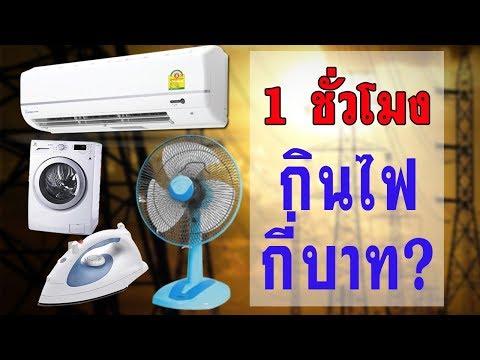เครื่องใช้ไฟฟ้าในบ้านกินไฟกี่บาท?