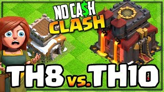 Town Hall 8 vs. Town Hall 10! Clash of Clans No Cash Clash #34