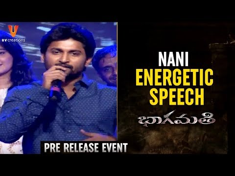 Nani Energetic Speech | Bhaagamathie Movie Pre Release Event | Anushka | Unni Mukundan | Thaman S