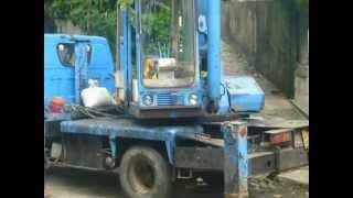 pick the mango with boom truck in Passara SRI LANKA [shiyam]
