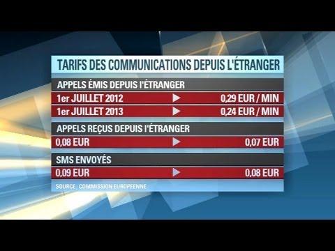 Baisse des prix des communications sur téléphone mobile depuis l'Union européenne