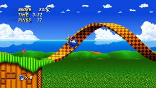 Sonic 2 HD 2.0 Demo Gameplay - Emerald Hill Zone