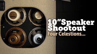 """Celestion 10"""" speakers shootout, G10 creamback, greenback, vintage and alnico gold."""