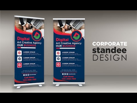 Roll Up Standee A Vector Banner Design In Adobe Illustrator Cc 2019