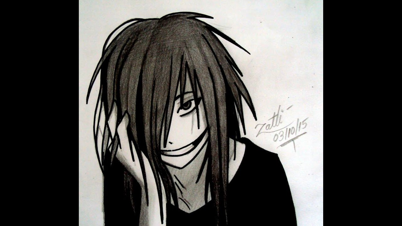 It's just a photo of Astounding Jeff The Killer Anime Drawing