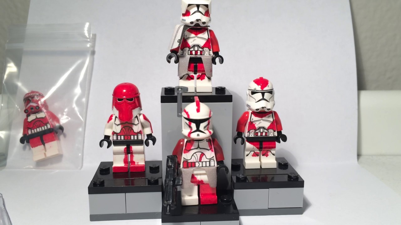 custom lego clone troopers blaze squad youtube