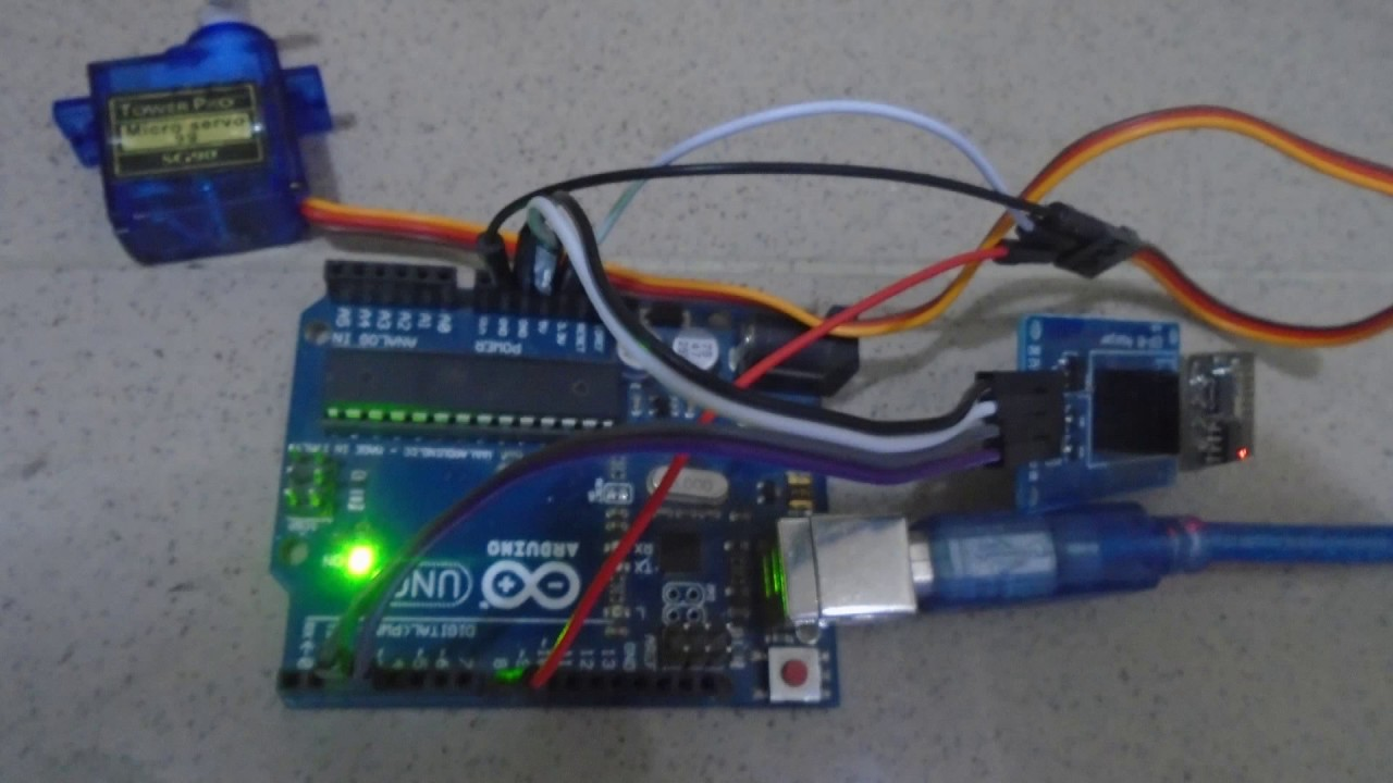 Web Controlled Servo Motor using Arduino - IoT Project