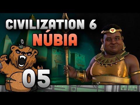 Pressentindo outra guerras | Civilization 6 #05 Núbia - Gameplay Português PT-BR