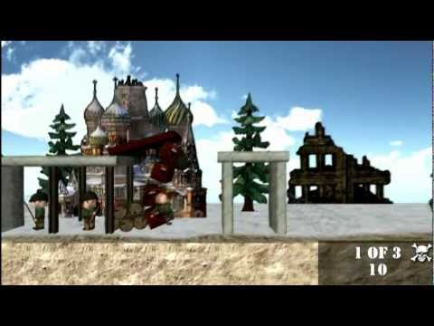Angry World War 2 official gameplay video (by Evil Indie Games) – iPhone and Android physics game