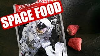 Tasting Astronaut Strawberries - Space Food