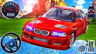 Kırmızı BMW M3 ve Lamborghini City Driving - Aventador Drift Offroad Simülatörü - Android GamePlay # 2
