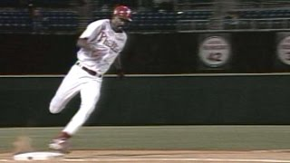 Glanville races for inside-the-park home run