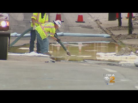 Crews Work To Clean Oil Spill On North Side