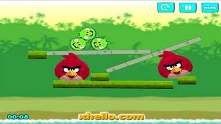 Angry Birds Kick Out Piggies - BAD PIGS GET KICKED BY RED AND STELLA