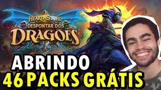 HEARTHSTONE Despontar dos Dragões - Abrindo 46 Pacotes da Expansão!