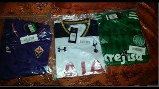 Gogoalshop.com 16-17 Tottenham Hotspur.Palmeiras.Fiorentina Home Jersey Shirt Unboxing Review