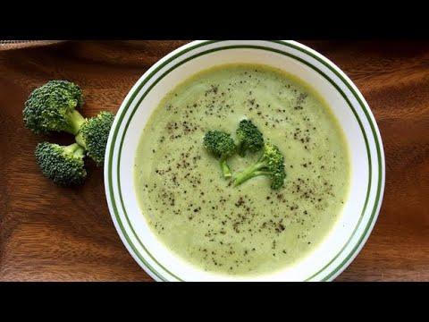 recette-:soupe-au-brocolis-crémeuse