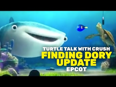 New characters from Finding Dory now appearing in Turtle Talk with Crush at Epcot