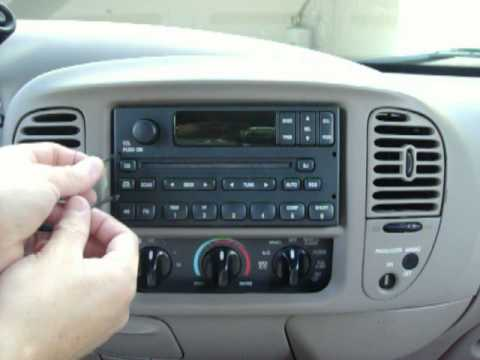 2000 Ford F150 Radio removal - YouTube