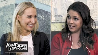 Gambar cover Nikki Glaser joins Katie Nolan for a roast session   Always Late with Katie Nolan