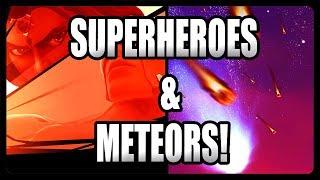 METEORS HITTING PLAYERS! SUPERHEROES, METEOR CARE PACKAGES, & TILTED TOWERS! (Fortnite Season 4)