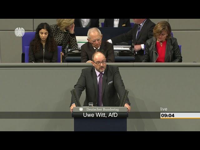 23.11.2018 Deutscher Bundestag Uwe Witt AfD zum Haushaltsplan Arbeit und Soziales