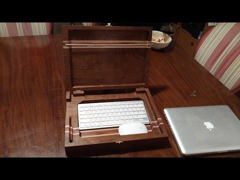 Walnut Laptop Box