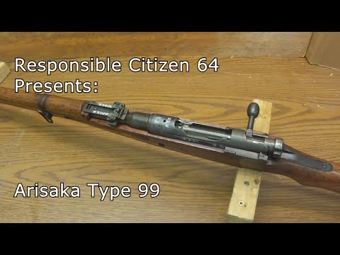 Arisaka Type 99: Japanese Rifle from WW2, with Bayonet, Reloading 7.7 ammo.
