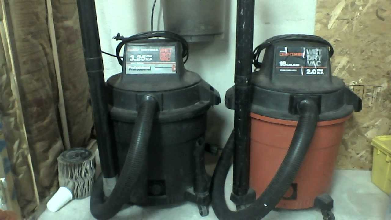 Craftsman Shop Vacs and Amway Clear Trak - YouTube