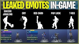 *NEW* Fortnite: ALL 5 LEAKED EMOTES IN-GAME ANIMATED! | (Prices and Names!)