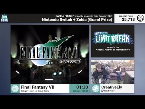 Final Fantasy VII (PC - No Debug Room) by CreativeEly (RPG Limit Break 2017 Part 4)