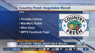 Fresh-cut vegetables recalled from Publix, Wal-Mart, Winn-Dixie, other stores