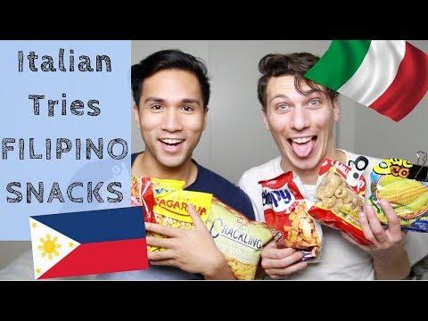 ITALIAN TRIES FILIPINO SNACKS🇵🇭