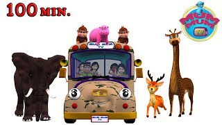 Wheels On The Bus Go Round And Round Rhymes Songs for Children - Animal Sounds Song   Mum Mum TV thumbnail