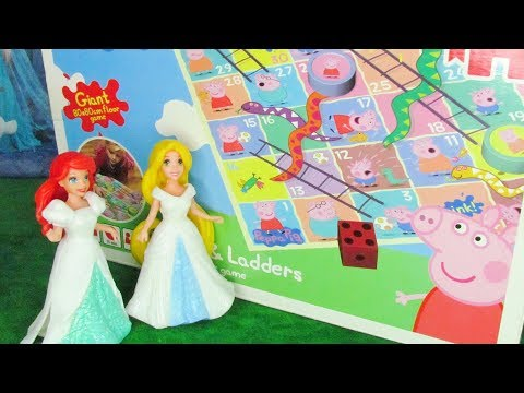 Peppa Pig Snakes And Ladders Floor Game With Disney Princesses Ariel And Cinderella