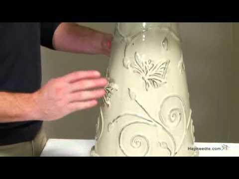 Bisque Ceramic Butterfly Bird Bath