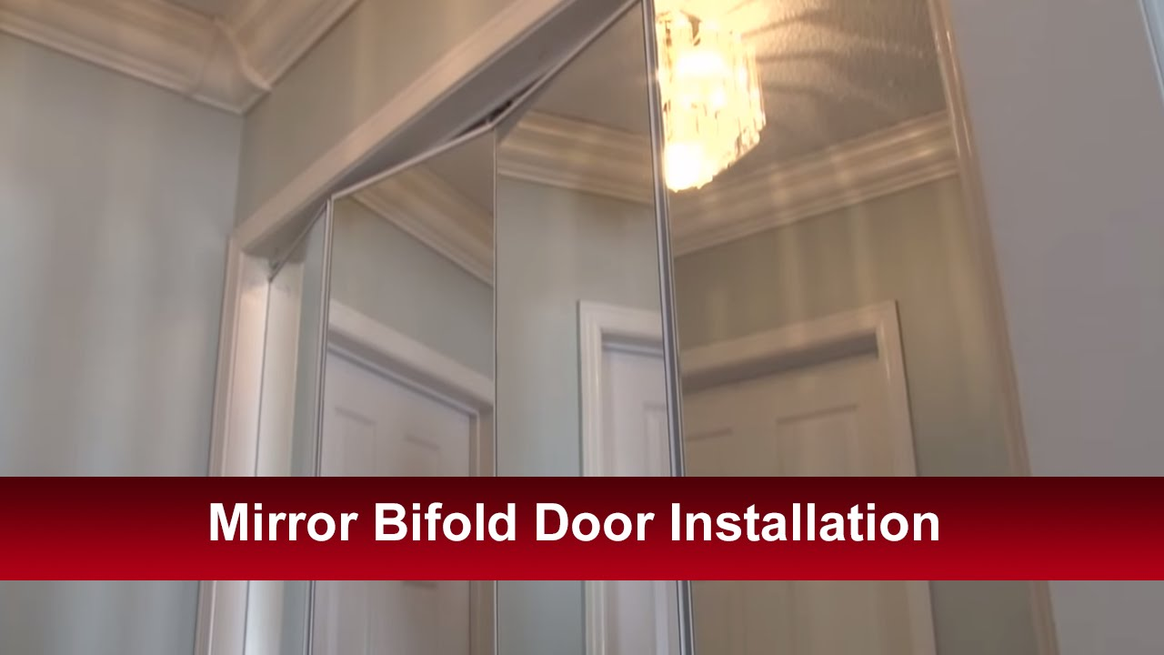 Mirror bifold door installation youtube for Door installation