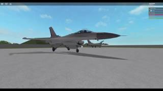 My F-16 In action -Roblox Development Video-