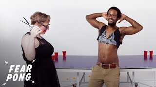 Blind Dates Play Fear Pong! (Paschal & Kathryn) | Fear Pong | Cut