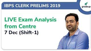 IBPS Clerk Prelims Exam Analysis 2019   Live From Center