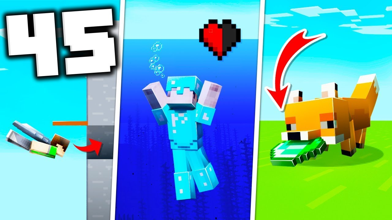 45 Luckiest Things That Can Happen in Minecraft! thumbnail