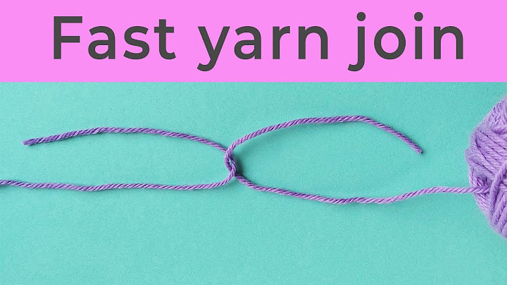fast yarn join no weaving in yarn ends new improved video