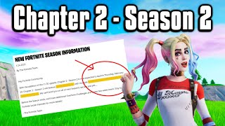 Why The New Season Will Change Fortnite FOREVER! - Chapter 2 Season 2!