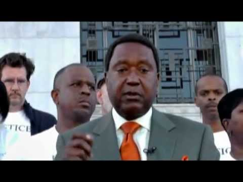 Alan Blueford Press Conference Exposing District Attorney Report